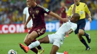 Brahimi ao serviço da Argélia no Mundial, antes de rumar ao FC Porto