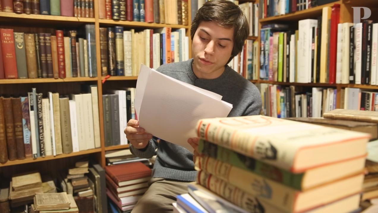 Retrato de um escritor quando mesmo muito jovem
